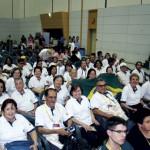 Comitiva da APACAME devidamente uniformizada, presente à cerimônia de abertura do Congresso