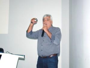 O Presidente da CBA José Aragão proferiu a sua palestra com grande entusiasmo e emoção.