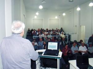 A plateia presente sentiu-se motivada com as informações recebidas do Presidente Aragão.