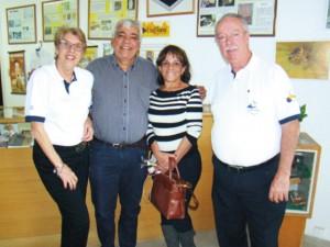 Na parte da tarde o Presidente da CBA José Aragão, acompanhado da sua esposa Elma Brito visitaram as dependências da APACAME.