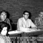 1974 - Participação de Luiz Zovaro (centro) do 3o Congresso Brasileiro de Apicultura - Piracicaba/SP
