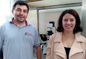Os professores Eugênio Oliveira e Maria Augusta Lima, da Universidade Federal de Viçosa.