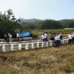 Visita técnica a apiário cerca de Paju, mais de 200km de Daejeon, na fronteira da Coréia do Sul com a Coréia do Norte