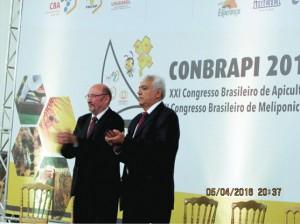 Abertura oficial do 21o COMBRAPI e 7o CONBRAMEL com o Presidente do Congresso José Xavier e o Presidente da CBA - Aragão Brito