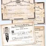 1942/1964 – Alguns dos 56 Diplomas ganhos em exposições realizadas no Parque Fernando Costa (também chamado de Parque da Agua Branca) em São Paulo, ganhos por Antônio Zovaro e Luiz Zovaro ao longo dos anos.