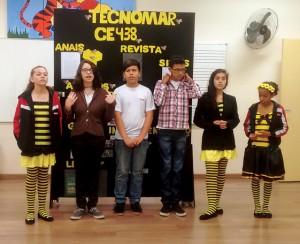 Equipe Tecnomar durante apresentação do Projeto de Pesquisa.
