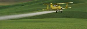 A pulverização áerea é um dos principais problemas com agrotóxicos.