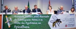 Constantino Zara Filho compondo a mesa do debate contra a pulverização aérea